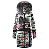Limsea Womens Coat Quilted Jacket Outwear Parka Winter Long Down Cotton HoodedBlack Large