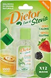 Dietor - My Dietor Cuor di Stevia Liquido, 12 Blister da 50 ml, 100% Made in Italy