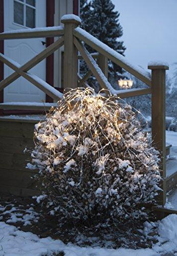 Star 487-10 - Guirnalda de luces LED (280 ledes de luz blanca cálida, plástico, 0,05 x 10 x 0,05 cm), color plateado