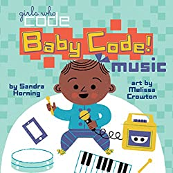 Baby coding book by Girls Who Code, art.
