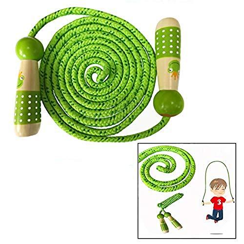 OFKPO Kinder Springseil, Verstellbare Kinder Springseil Speed Rope, Kinder Seilspringen mit Cartoon Holzgriff für Jungen und Mädchen
