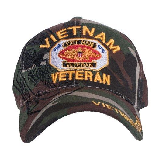 Fox Outdoor 78–452Embroidered Ball Cap, Camo–Vietnam Veterans by Fox Outdoor