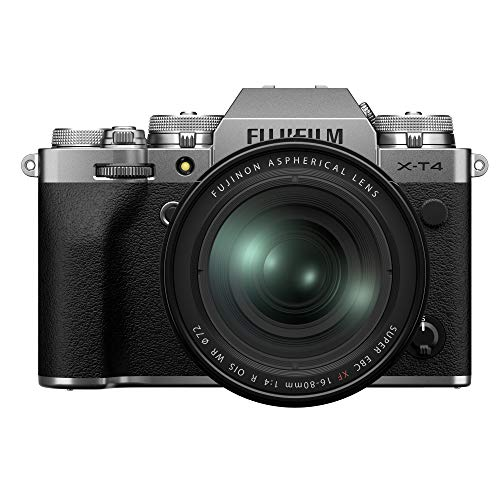 Fujifilm X-T4 16651277 - Kit de cámara con Objetivo XF16-80 4, Color Plateado
