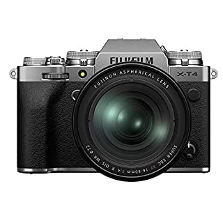 Fujifilm X-T4 Mirrorless Digital Camera, Silver with Fujinon XF16-80 mm F4 R WR Optical Image Stabiliser Lens Kit (B08557HHS2) | Amazon price tracker / tracking, Amazon price history charts, Amazon price watches, Amazon price drop alerts