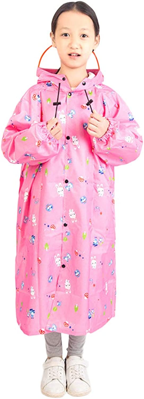 VORCOOL Kinder Kinder Kinder Regenmantel Kids Cute Infantil Wasserdichte Kinder Regen Mantel Poncho Regenbekleidung Mit Kapuze Undurchlässig (Rosa, L) B07KG9TTBS  Offizielle Webseite 751bc2
