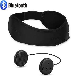 Bluetooth Headband Sleep Headphones, AGPTEK Bluetooth V4.1 Wireless Headband with Detachable Thin Speaker, Eye Mask for Sleeping, Sports, Air Travel, Snoring, Meditation & Relax Women Men, Black