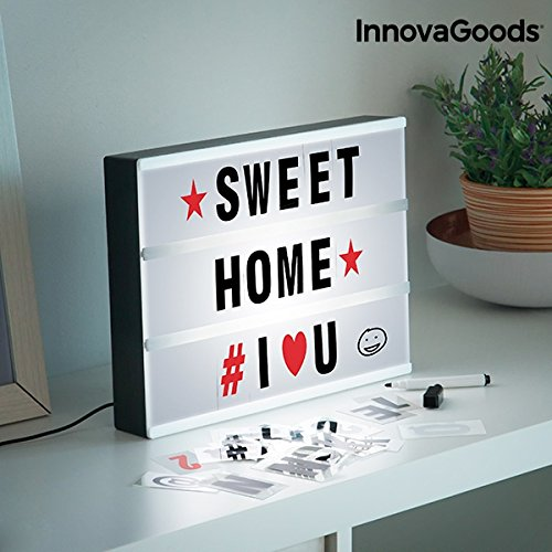 Preisvergleich Produktbild InnovaGoods LED-Display zum Schreiben von Cinema-Nachrichten,  Weiß,  Einheitsgröße