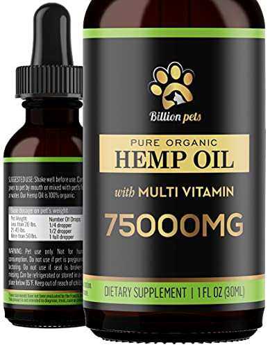 Billion Pets - Hemp Oil for Dogs and Cats - Hemp...