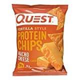 Quest Nutrition Tortilla Style Protein Chips, Nacho Cheese, Low Carb, Gluten Free, Baked, 1.1 Ounce,...