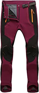 d13cf707b YiLianDa Pantalones de Trekking Softshell Pantalones Impermeables  Resistente Pantalones de Escalada