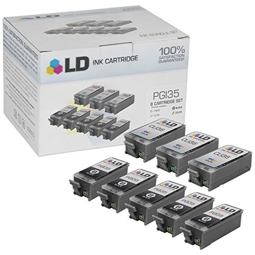 LD Compatible Ink Cartridge Replacement for Canon PGI35 (Black, 6-Pack)