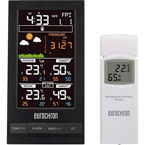 Station météo radiopilotée numérique Eurochron EFWS S250 noir