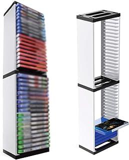 NSSTAR 36 CD Game Disk Tower VR Auricular Organizador de Videojuegos Game Disc Tower Soporte Soporte de Almacenamiento de ...