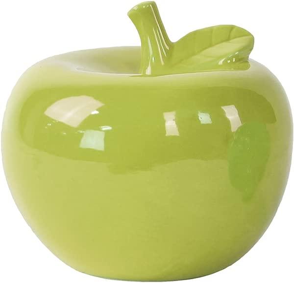 Urban Trends Ceramic Apple Figurine Large Gloss Green