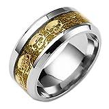 Lightning Deals Rings,ZYooh Creative Fashion Rhinestone Finger Knuckle Skull Ring Engagement Wedding Band Ring (Gold, 11)