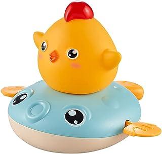 SOWUNO Bath Toy Wind up Cartoon Chicken Plastic Creative Duck Water Spray Toy Shower Toy Bathroom Children Gift Bathtub Toy