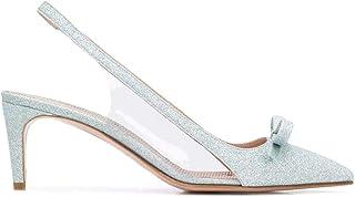Luxury Fashion | Red Valentino Women TQ2S0C04CXAA98 Light Blue Leather Heels | Spring-summer 20