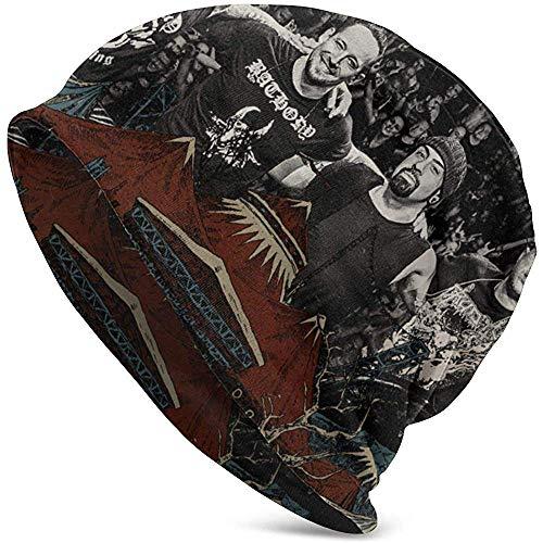 Mamihong Stilvolle Volbeat Adult Herren Strickmütze Muster Baggy Cap Hedging Kopf Hut Top Level Beanie Mütze 2369854-KMB-15054
