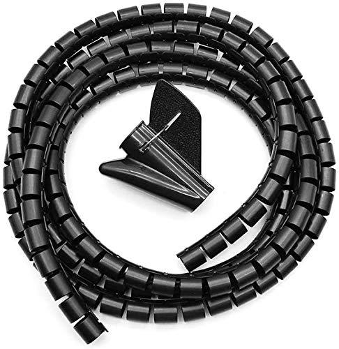 Jieddey Organizador Cables,5 Metros Espiral Recoge Cables Cubre Cables Universal Cables Protección...