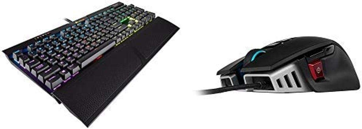 CORSAIR K70 RGB MK.2 RAPIDFIRE Mechanical Gaming Keyboard - Fastest & Linear and CORSAIR M65 ELITE RGB - FPS Gaming Mouse - 18000 DPI Optical Sensor
