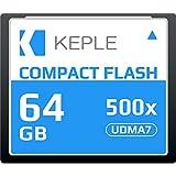 CF 64 GB Tarjeta de Memoria Compact Flash 500x Velocidad 75 MB/s, R 94 MB/s W 71.4 MB/S UDMA 7 Compatible con Nikon D5, D4, D800, D810, D700, D300; Canon 5d, Mark II, III, IV; 7d, Mark II