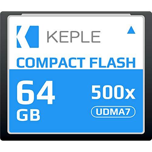 CF 64 GB Compact Flash Scheda di Memoria 500x Velocità fino a 75 MB/s, R 94 MB/s W 71.4 MB/S UDMA 7 Compatibile con Nikon D5, D4, D800, D810, D700, D300; Canon 5d, Mark II, III, IV; 7d, Mark II