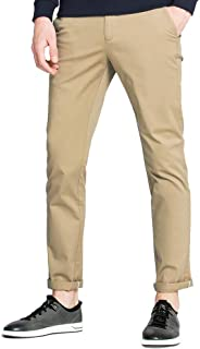 CAMEL CROWN Men's Casual Pants Lightweight Comfort Classic Slim Regular Fit Stretch Chino Pants