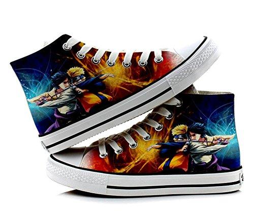 Naruto Cosplay Schuhe Leinwand Schuhe Sneakers Bunt 3, Damen, bunt, 7.5 B(M) US Female