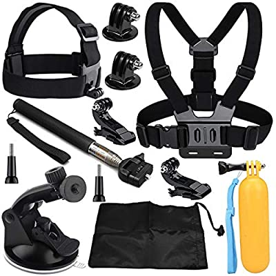 VVHOOY 9 in 1 Universal Action Camera Accessory Bundle Kit Compatible with Gopro Hero 8/7/6/5/AKASO EK7000/Brave 4/5/6/V50/APEMAN/Dragon Touch/Crosstour/Victure/Campark ACT74 Waterproof Action Camera from VVHOOY