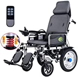 ERLIANG Heavy-Duty Electric Wheelchair with Headrest, Portable Electric Wheelchair, Electric or Manually...