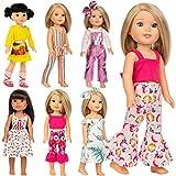 ZITA ELEMENT 7 Sets Vêtements de Poupée pour 36cm 37cm Vêtements de Poupée et 14,5 Pouces American Girl Vêtements Mode Nouveauté