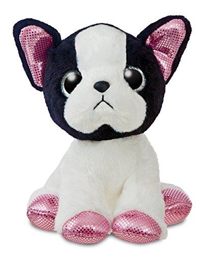 Colorido peluche de bulldog francés. Tamaño pequeño (18 cm)