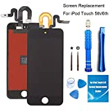 Screen Replacement for iPod Touch 5 5th 6 6th Generation Black Full LCD Digitizer Display Assembly Kit + Advanced Repair Tools Set