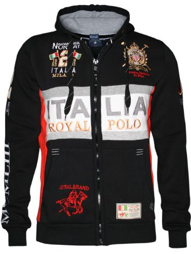 Geographical Norway - Felpa, Uomo, Nero (Schwarz - Noir (Black)), 3XL