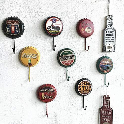 GanchosColgar De La Pared Key Anzuelos Calados Estilo De La Cabaña Escudo De Madera Bastidores Organizador La Repisa De Decoración (Color Aleatorio),4pcs