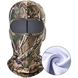WTACTFUL 1 Pack - Fleece Camouflage Balaclava Neck Warmer Face Mask Protection Wind Dust for Hunting Hiking Climbing Camping Tactical Cycling Hunter Ski Snowboard Thermal Camo Mask Winter Cold Cover