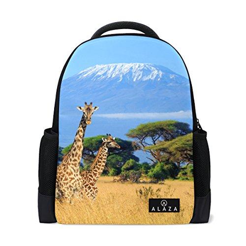 MyDaily Giraffe Kilimanjaro Mount Africa Rucksack 14 Zoll Laptop Daypack Bookbag für Reisen College Schule