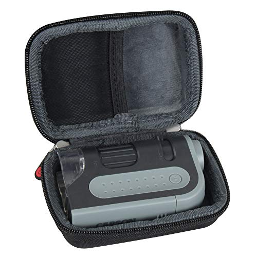 Hermitshell Hard Travel Case for Carson MicroBrite Plus 60x-120x Power LED Lighted Pocket Microscope (Microscope is not Included)