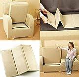 Modernage Rejuvenecedor de asiento de sofá, tabla fuerte 1-2-3, soporte de asiento caído | Sillón | Settee Soggy Seat Cojín fijador | Protector de tapicería supersólido (3 plazas)