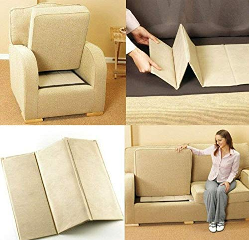 Modernage Sofá Asiento Rejuvenator Strong Board 1-2-3 Sagging Seat Support | Sillón | Settee Soggy Seat Cushion Fixer | Protector de tapicería Super Solid (1 plaza)