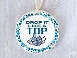 Lplpol Divertidos adornos judíos Drop It Like A Top Dreidel Chanukah Hanukkah regalo divertido...