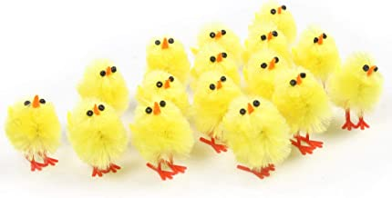 60 pack Easter mini chicks set,1 inch| Adorable Easter Decoration| Suitable Size for Easter Eggs| Easter Egg Bonnet Decoration| Party Favors and Gifts for Kids