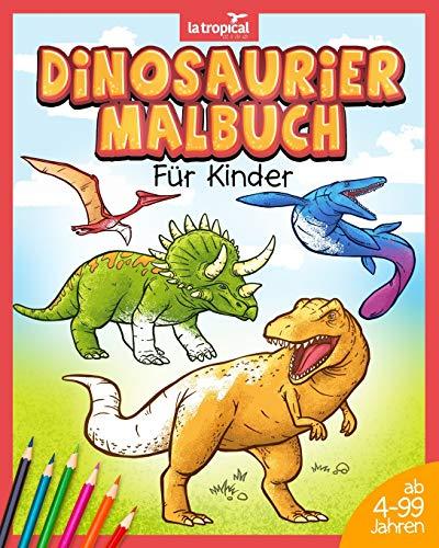 Dinosaurier Malbuch für Kinder: Mein tolles Dino Buch zum Ausmalen mit spannenden Fakten und Hintergrundwissen. Dino-Motive für Jungen und Mädchen ab 4 Jahren, die Spaß am Malen haben.