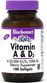 BlueBonnet Vitamin A and D3 Soft Gels, 100 Count
