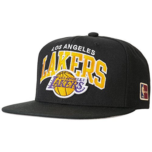 Mitchell & Ness Herren Snapback Caps Black Team Arch LA Lakers schwarz Verstellbar