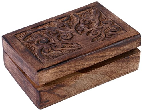 Wooden Tree of Life Trinket Box (Small) by Something Different