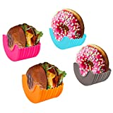 Hamburger Buns Caja fija, Burger Buddy Sandwich Holder,Reutilizable Burger Buddy, Hamburguesa Ajustable Titular de Hamburguesas, Hamburger Press Patty Maker