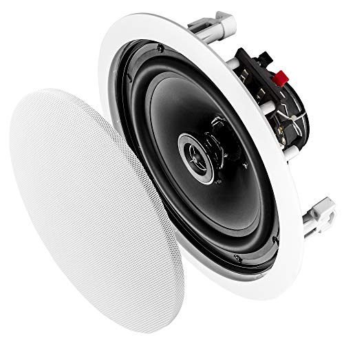 """Save %26 Now! OSD Audio 8"""" In-Ceiling Speaker Pair – 140W Stereo Speakers, Pivoting Tweeter - IC..."""