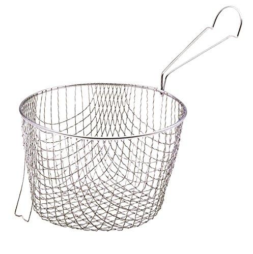 Kitchen Craft Extratiefer Frittierkorb für Frittiertöpfe mit 20 cm Durchmesser
