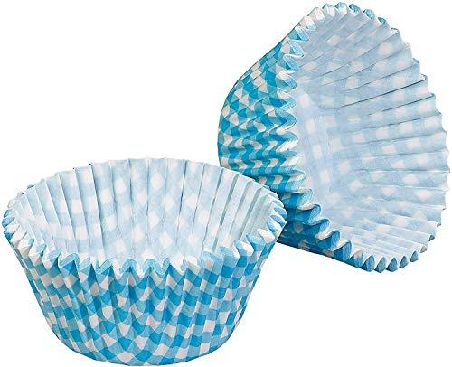 EUROXANTY® Molde de Magdalenas de Papel | Molde Cupcakes Papel | Cápsulas Muffins | Moldes Individuales de Magdalenas 6 x 5 x 5 cm | Azul